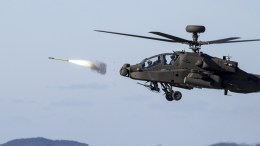 File Photo: A handout photo made available by the South Korean Army shows a South Korean Apache Guardian attack chopper fires a Stinger air-to-air guided missile at a target drone during a missile drill off the South Korea. EPA,SOUTH KOREAN ARMY HANDOUT SOUTH KOREA OUT HANDOUT EDITORIAL USE ONLY, NO SALES
