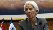 File Photo: Director of the International Monetary Fund (IMF) Christine Lagarde delivers a press conference at the headquarters of Paraguay's Central Bank in Asuncion, Paraguay. EPA, ALBERTO PENA