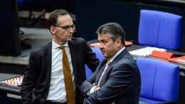 FILE PHOTO. Heiko Maas (L) and Sigmar Gabriel (R) during the