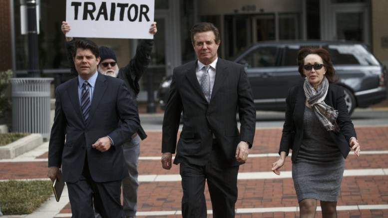 File Photo: Former Trump Campaign Manager Paul Manafort (C), with his wife Kathleen Manafort (R), arrives for arraignment at the Federal Courthouse in Alexandria, Virginia, USA. EPA, SHAWN THEW