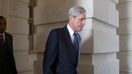 FILE PHOTO.  Special Counsel and Former FBI Director Robert Mueller (C) leaves after briefing members of the Senate Judiciary Committee on the investigation into Russia's interference in the 2016 US presidential election, on Capitol Hill in Washington, DC, USA. EPA, MICHAEL REYNOLDS