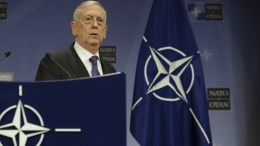 FILE PHOTO, US Secretary for Defense James Norman 'Jim' Mattis arrives for a media conference at the end of the meeting of North Atlantic Treaty Organization (NATO) Defence Ministers at the NATO headquarters in Brussels, Belgium, 15 February 2018. NATO defense ministers earlier the same day began a two-day meeting. EPA, OLIVIER HOSLET