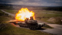 FILE PHOTO.  A US Army M1A2 SEP tank participates in the Strong Europe Tank Challenge 2017 at the military training area in Grafenwoehr, Germany. EPA, CHRISTIAN BRUNA