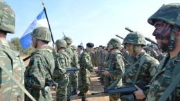 File Photo: Φωτογραφία από την τελική Φάση της διακλαδικής άσκησης των Ενόπλων Δυνάμεων (ΤΑΜΣ) «ΠΑΡΜΕΝΙΩΝ 2017» που πραγματοποιήθηκε στο Πεδίο Βολής «ΨΗΛΟΣ ΣΤΑΛΟΣ», στα Λάβαρα Έβρου. ΑΠΕ ΜΠΕ, ΓΕΣ/STR
