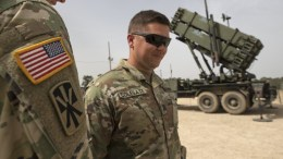FILE PHOTO.  US Air Force personnel next to a Patriot missile Defense system. EPA, ATEF SAFADI