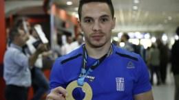 File Photo: Ο παγκόσμιος πρωταθλητής στους κρίκους Λευτέρης Πετρούνιας . ΑΠΕ-ΜΠΕ,ΓΙΑΝΝΗΣ ΚΟΛΕΣΙΔΗΣ