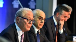 Ο πρώην διοικητής της ΤτΕ Γιώργος Προβόπουλος (Α) και ο πρόεδρος της Eurobank συμμετείχαν στο Οικονομικό Φόρουμ Δελφών που έγινε στο Ευρωπαϊκό Πολιτιστικό Κέντρο Δελφών, Πέμπτη 1 Μαρτίου 2018. ΑΠΕ ΜΠΕ, Delpihi Economic Forum, STR