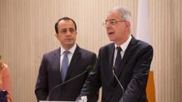 Ο Κύπριος Κυβερνητικός Εκπρόσωπος  Πρόδρομος Προδρόμου  - ΚΥΠΕ, Σ. Ιωαννίδης