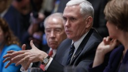 File Photo: US Vice President Mike Pence delivers remarks during a meeting EPA, SHAWN THEW