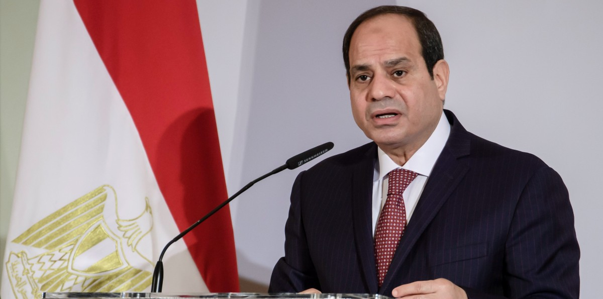FILE PHOTO. Egyptian President Abdel Fattah al-Sisi speaks during the 4th Session of the German-Egyptian Joint Economic Committee at the Adlon Hotel in Berlin, Germany. EPA/CLEMENS BILAN