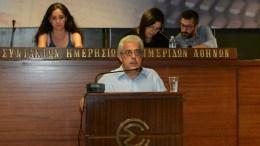 File Photo: Ο Νίκος Σοφιανός μιλάει στην ΕΣΗΕΑ σε εκδήλωση για την νέα έκδοση της ΚΕ των Θέσεων του ΚΚΕ. ΑΠΕ ΜΠΕ, ΔΗΜΗΤΡΗΣ ΚΟΥΚΟΣ