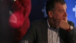 """Ο Σταύρος Θεοδωράκης στο Οικονομικό Φόρουμ Δελφών. Φωτογραφία """"Το Ποτάμι"""""""