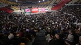 Άποψη από το στάδιο με τους σύνεδρους στο 1ο Συνέδριο του Κινήματος Αλλαγής, Παρασκευή 16 Μαρτίου 2018, που πραγματοποιείται στο Στάδιο Ειρήνης & Φιλίας από 16-17 Μαρτίου. ΑΠΕ-ΜΠΕ, ΣΥΜΕΛΑ ΠΑΝΤΖΑΡΤΖΗ