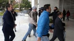 File Photo: Οι δύο από τους οκτώ Tούρκους αξιωματικούς (1-A & 1-Δ) προσέρχονται συνοδευόμενοι από αστυνομικούς στον Άρειο Πάγο. ΑΠΕ – ΜΠΕ, Αλέξανδρος Μπελτές