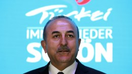 File Photo: Turkish Foreign Minister Mevlut Cavusoglu.EPA, FELIPE TRUEBA