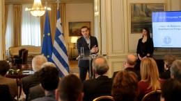 Ο Πρωθυπουργός Αλέξης Τσίπρας στο Μάγερο Μαξίμου. ΑΠΕ-ΜΠΕ, Παντελής Σαίτας
