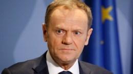 "File Photo: Ο Πρόεδρος του Ευρωπαϊκού Συμβουλίου, Ντόναλντ Τουσκ, έκανε λόγο για ""καλή συνομιλία"", μεταξύ των δύο αντρών. EPA. JULIEN WARNAND"