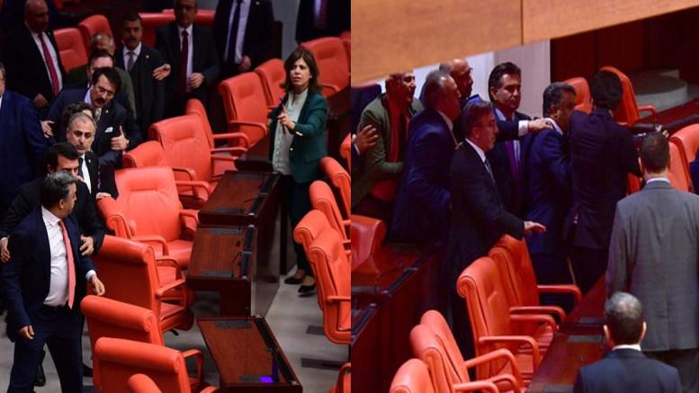 Στα χέρια ήρθαν βουλευτές μέσα στην τουρκική εθνοσυνέλευση κατά τη διάρκεια συζήτησης για το Αφρίν