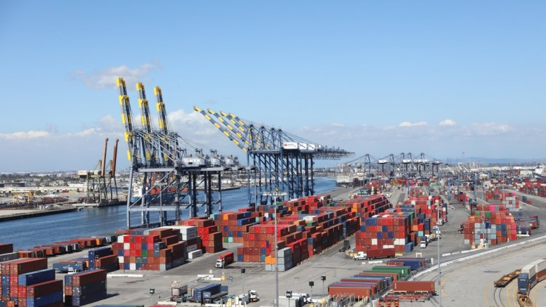 File Photo: Shipping containers are seen at the Port of Los Angeles in San Pedro, California, USA. EPA, ANDREW GOMBERT