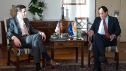 File Photo: Ο Υπουργός Εξωτερικών κ. Νίκος Χριστοδουλίδης σε συνάντηση με τον Υφυπουργό Εξωτερικών των ΗΠΑ, αρμόδιο για Ευρωπαϊκές και Ευρασιατικές Υποθέσεις δρα Wess Mitchell . ΓΤΠ, Σ. ΙΩΑΝΝΙΔΗΣ