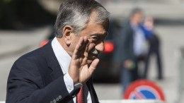 File Photo: Turkish Cypriot leader, Mustafa Akinci, reacts as he arrives during a new round of the conference on Cyprus under the auspices of the United Nations, in Crans-Montana, Switzerland, 30 June 2017. EPA.JEAN-CHRISTOPHE BOTT