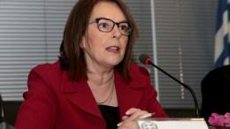 File Photo: H υφυπουργός Οικονομικών Κατερίνα Παπανάτσιου κατά τη διάρκεια συνέντευξης τύπου, στο κτήριο του ΣΔΟΕ. ΑΠΕ-ΜΠΕ, Παντελής Σαίτας