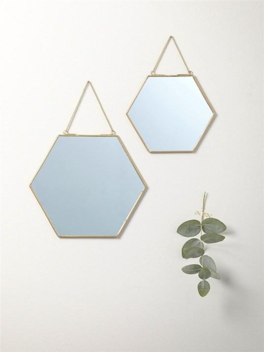 Tendance les miroirs r tros hexagonaux for Miroir du desir