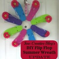 DIY Flip Flop Summer Wreath- UPDATE