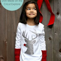 DIY Hipster Rudolph Shirt Made on Cricut Explore