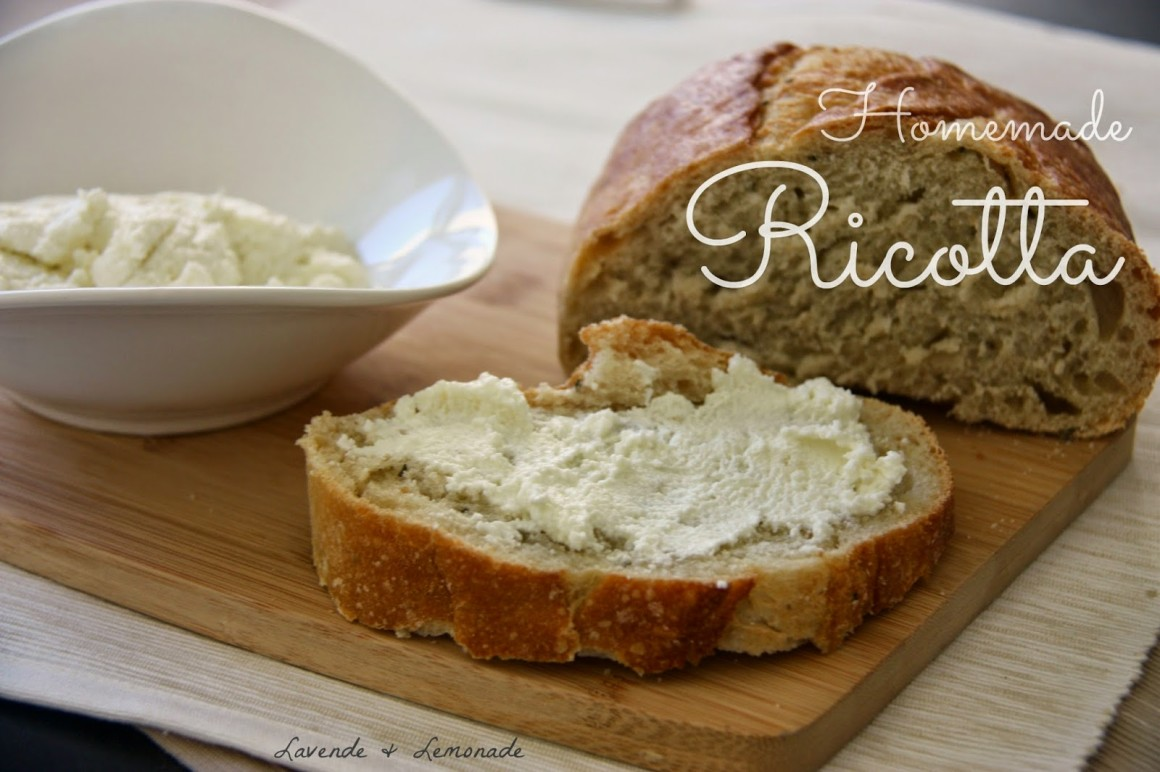 How To Make Homemade Ricotta Cheese With Just 3 Ingredients- HCF Featured Recipe of the Week ...