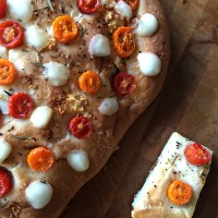 Back To Basics- Homemade Focaccia Bread Recipe (Modify with Cherry Tomatoes + Bocconcini)