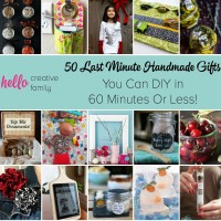 50 Last Minute Handmade Gifts You Can DIY in 60 Minutes Or Less!