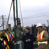 Glenn meets with City planners and engineers during their subway soil testing in December 2015.