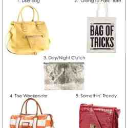 5 Bags Every Girl Needs