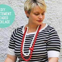 DIY Statement Beaded Necklace