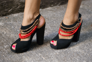 wooden beads for tribal heels