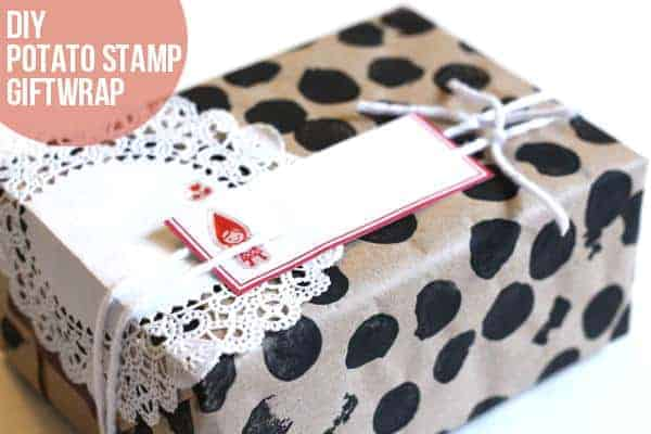 potato stamp giftwrap