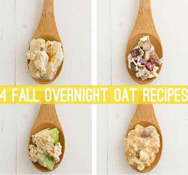 4 Overnight Oat Recipes for Fall