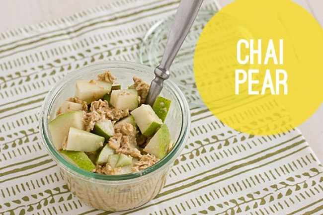 Chai Pear Overnight Oats