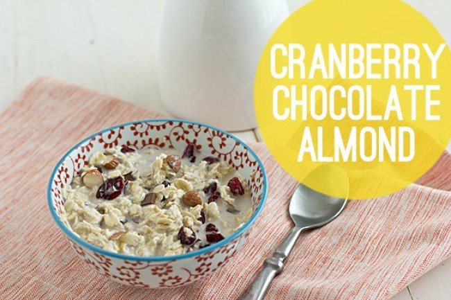 Cranberry Dark Chocolate Almond Overnight Oats