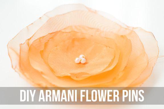 Armani Flower Pins
