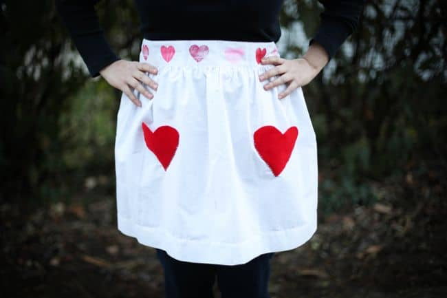 DIY Apron with Heart Pockets