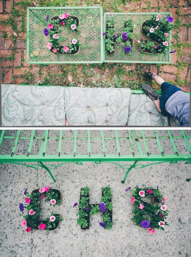 DIY initial planters