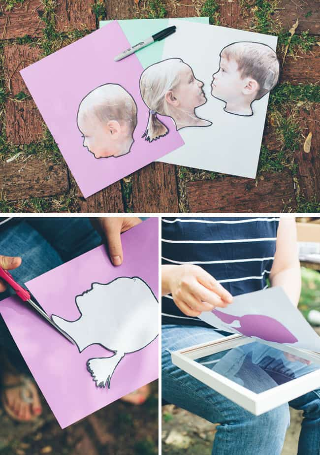 DIY Children Silhouettes