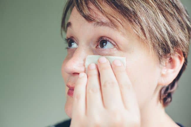 DIY Parsley Eye Mask