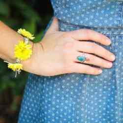 Fresh flower bun wrap and bracelet DIY
