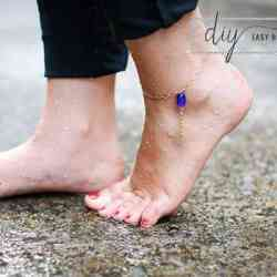 Easy Bead DIY Anklet