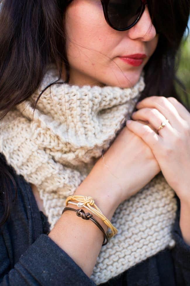 DIY Knotted Leather Bracelets | HelloGlow.co