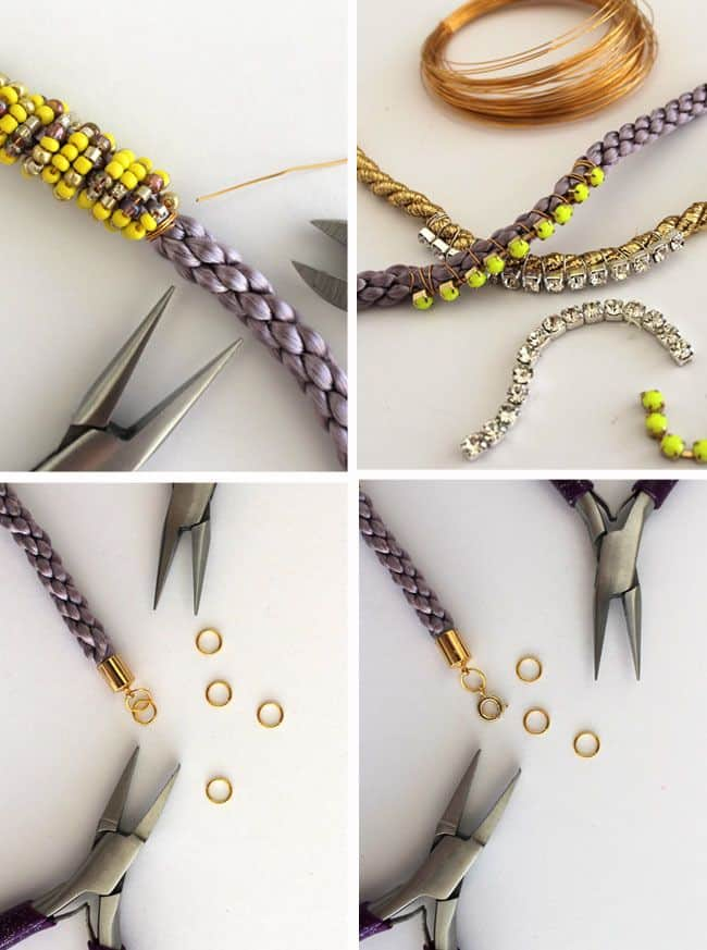 How to Make DIY Cord Bead Bracelets