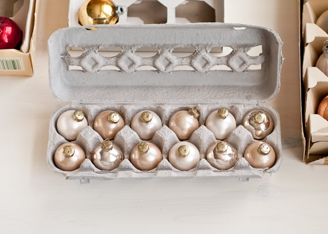 reuse egg carton for ornaments